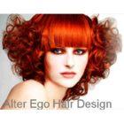 Kadeřnictví - Logo Andrea JOSKOVÁ - Alter ego hair design